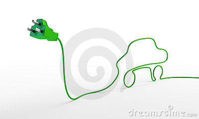 Electric plug with a car-shaped cord.