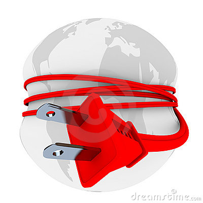 Electric Plug Has Earth in Stranglehold