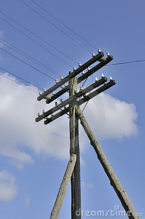 Free Electric Pole And Power Lines Stock Images - 15468124