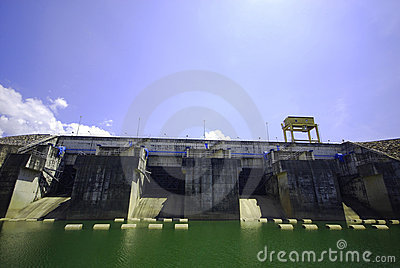 Electric power dam