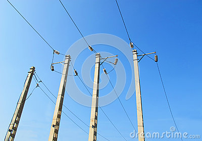 Electric power line pole