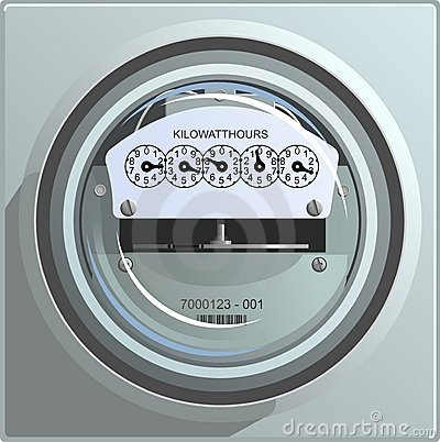 Free Electric Power Meter Royalty Free Stock Photo - 3583985