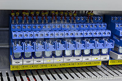 Electric relays in industry