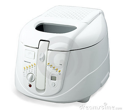 Electric rice cooker isolated