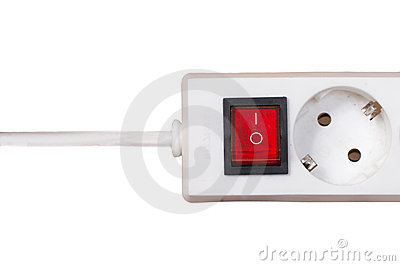 Electric Socket And Outlet Isolated On White.