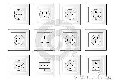 Electric sockets worldwide