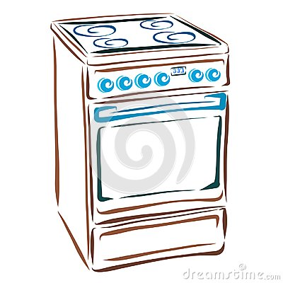 Free Electric Stove, Household Appliances For The Kitchen Stock Image - 115945401