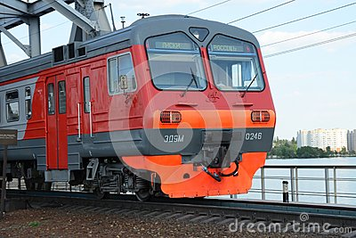 Electric train route from Voronezh to Liski