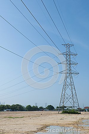 Electric transmission tower 02