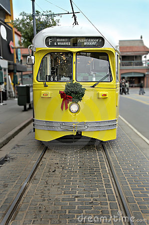 Electric Trolley Car in San Francisco