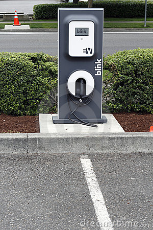 Electric Vehicle Charging Station Editorial Photo