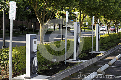Electric Vehicle Charging Stations Editorial Photo