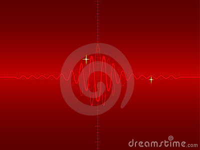 Electric wave form in red