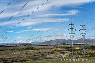 electric wiring & pylons on Ohau Channel