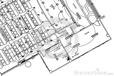 Electrical Drawing Background, Architectural Plan, Construction ...