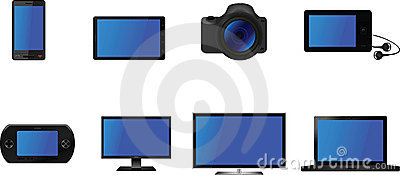 Electrical Gadget Icons Vector