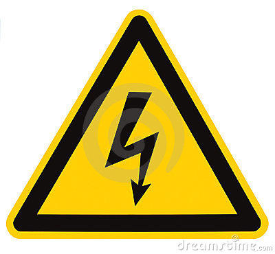 Free Electrical Hazard High Voltage Sign Isolated Macro Stock Images - 17283034