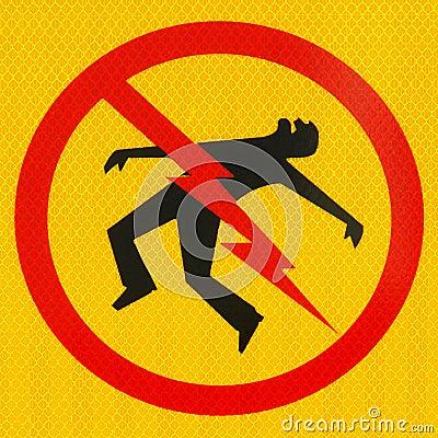 Electrical Hazard Icon Danger