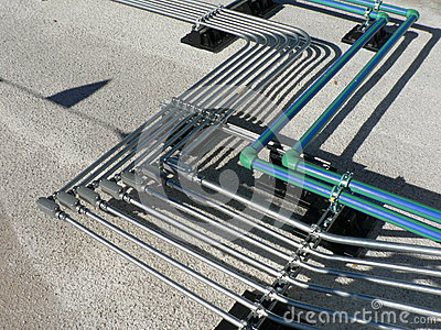 Electrical Pipe Rack On Roof Stock Photo Image 50669690