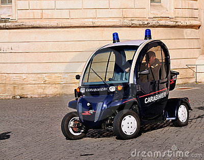 Electrical Police Car - Carabinieri Editorial Stock Photo