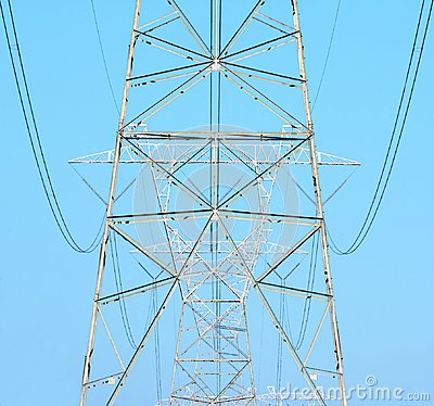 Free Electrical Power Cables And Towers Stock Image - 118811161
