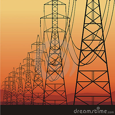 Free Electrical Power Lines Stock Image - 23013871