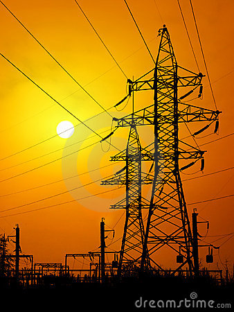 Free Electrical Power Lines Stock Image - 4944441