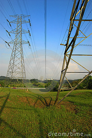 Free Electrical Power Transmission Lines Stock Photo - 5479180