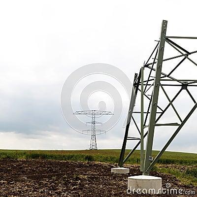 Free Electrical Pylons Royalty Free Stock Photo - 10664265