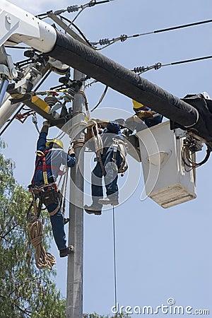 Electrical repair Editorial Photo