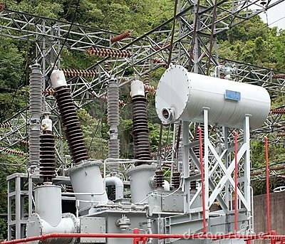 Electrical Substation with Large
