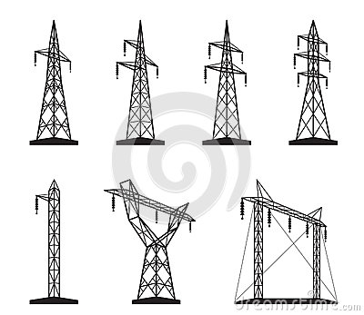 Electrical transmission tower types