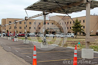 Electrical Vehicle Charging Station Editorial Photography