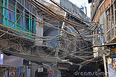 Electrical Wiring in India Editorial Stock Photo