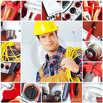 Free Electrician Royalty Free Stock Photography - 13137217