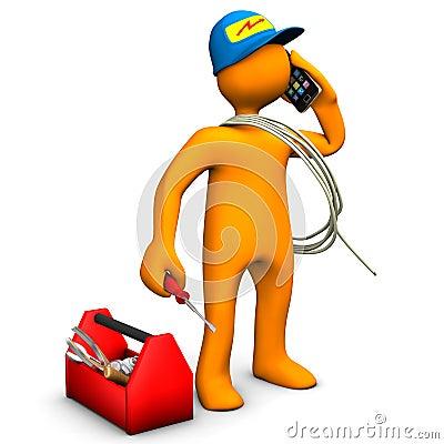 Free Electrician Phones Stock Photo - 27138840