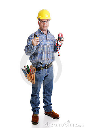 Free Electrician Ready For Work Stock Images - 4862094