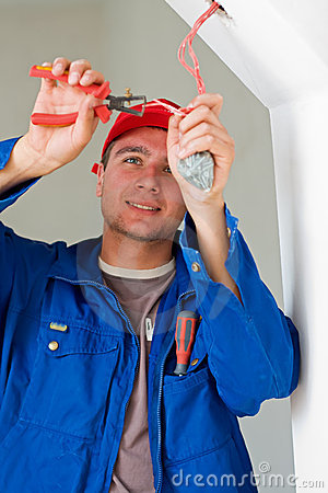 Free Electrician Working Stock Photography - 10592672