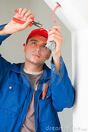 Free Electrician Working Stock Images - 10656644