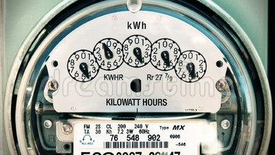 Electricity Meter (Time-lapse) Loop. Shot of electricity meter spinning really fast. Seamless looping video stock video footage