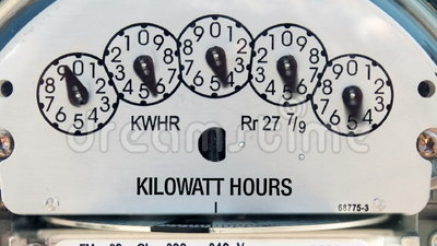 Electricity Meter (Time-lapse). Panning shot of electricity meter spinning really fast stock video