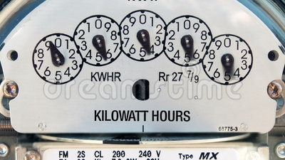 Electricity Meter (Time-lapse). Shot of electricity meter spinning really, really fast stock footage
