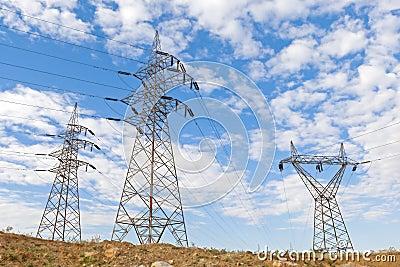 Electricity pillars