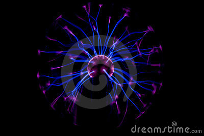 Electricity in plasma ball