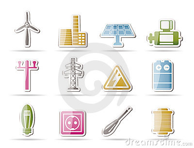 Electricity and power icons