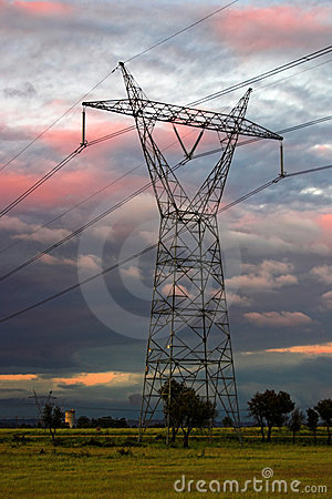 Free Electricity Pylon Royalty Free Stock Photo - 5455075