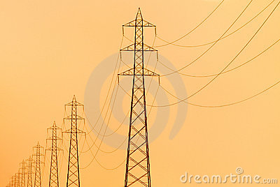 Electricity pylons