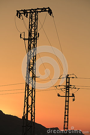 Free Electricity Pylons Royalty Free Stock Images - 25860699