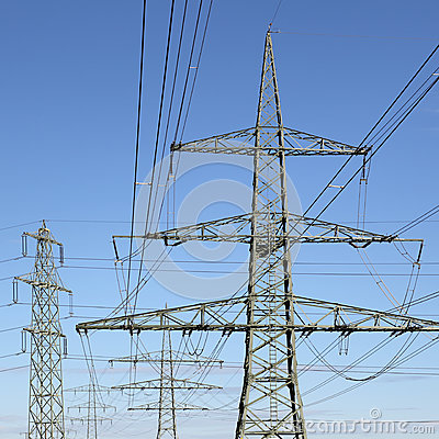 Free Electricity Pylons Energy Power Royalty Free Stock Photos - 35414388