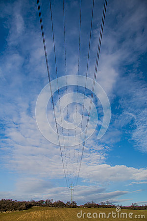 Electricity Wires. Stock Photo - Image: 63136830